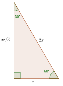30-60-90 right triangle