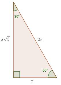 30-60-90 right triangle