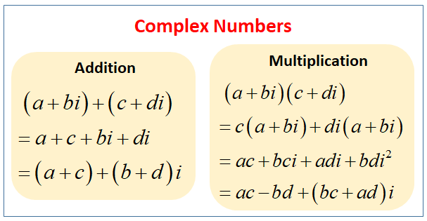 Add and Multiply Complex Numbers