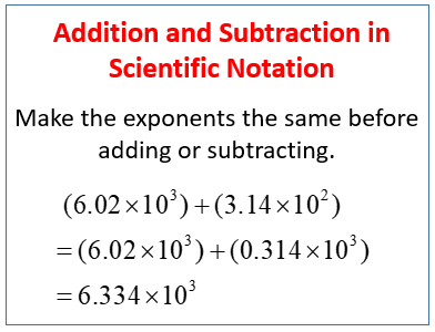 Add And Subtract Numbers In Scientific Notation Examples