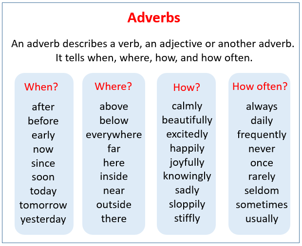 adverbs examples songs videos worksheets games activities