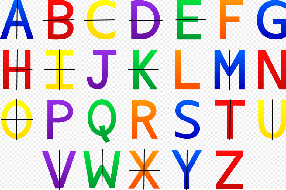 Which Letters Of The Alphabet Are Not Symmetrical