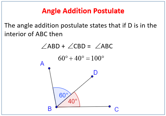 Angle Addition Postulate (examples, solutions, worksheets, videos ...