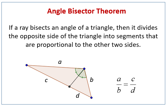 angle bisector theorem examples solutions videos