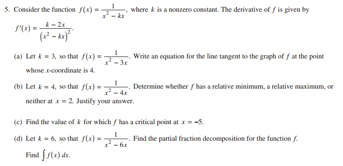 AP Calculus BC 2015 Question 5 (solutions, questions, videos) on