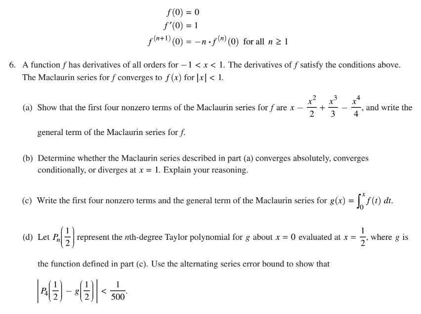Ap calculus bc 2017 exam solutions questions videos ap calculus bc 2017 free response question 6 ccuart Gallery