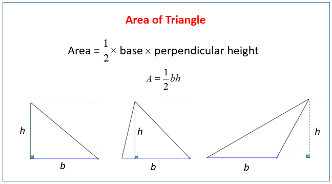 Area of Triangles solutions examples videos worksheets – Area of Triangles Worksheets