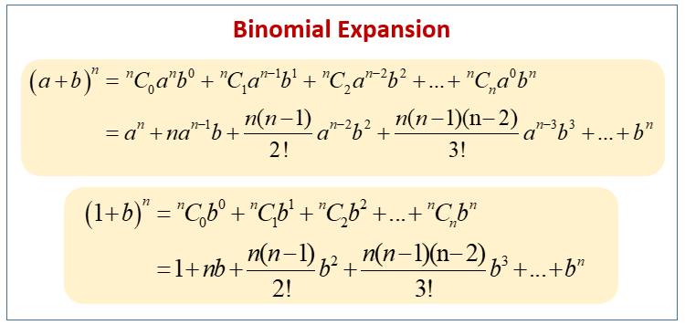 Binomial Expansion Formula Examples Solutions Worksheets Videos