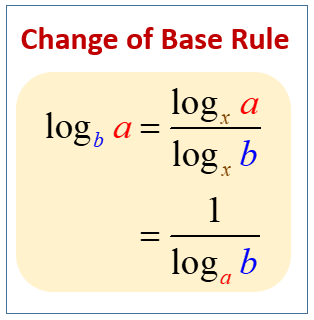 Change of Base Rule