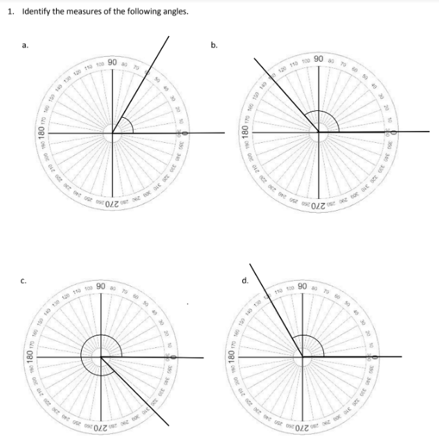 Using A Circular Protractor (examples, Solutions, Homework, Videos,  Worksheets, Lesson Plans)