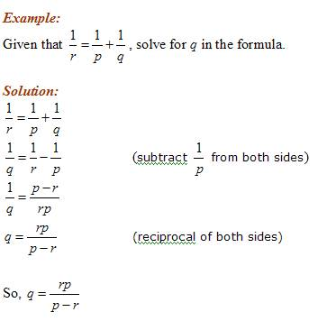 Solve For Variable In The Formula Solutions Examples Videos