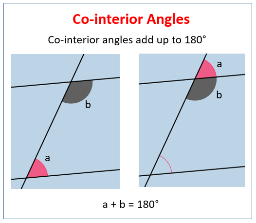 Co Interior Angles Examples Solutions Videos