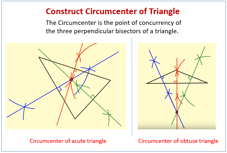 Construct Circumcenter Triangle