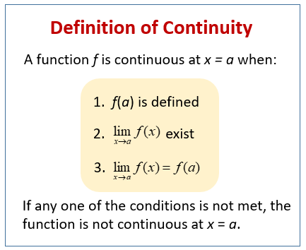 Definition of Continuity
