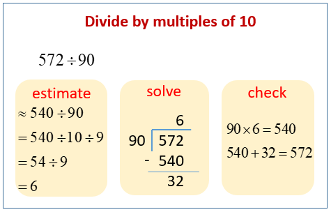 Divide by multiples of 10