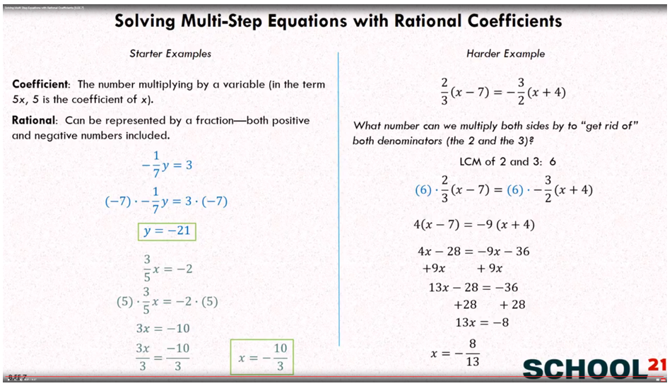 Equations Rational Coefficients