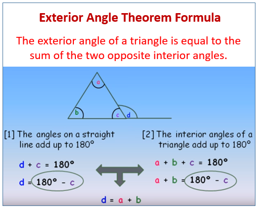 Exterior Angle Theorem Examples Solutions Worksheets