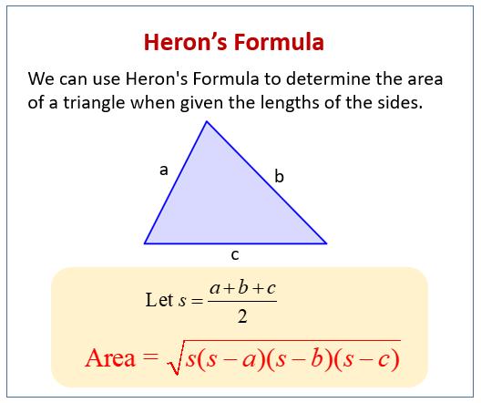 Herons Formula