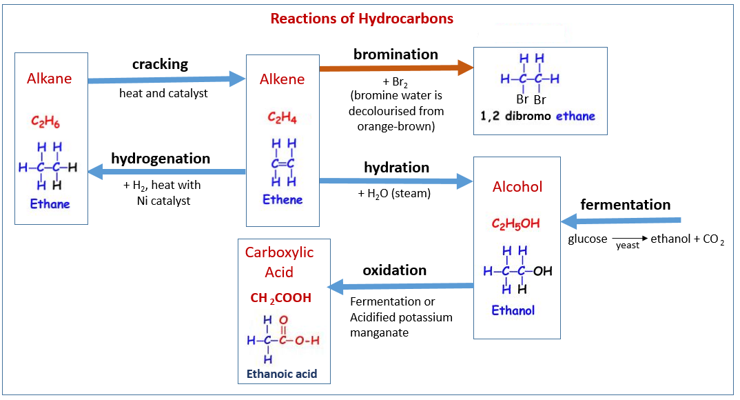reaction of hydrocarbons essay Which two of the following are aromatic hydrocarbons best represents the reaction taking place when ethyne is of cobalt chloride paper blue to.