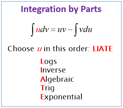Calculus Integration By Parts Solutions Examples Videos