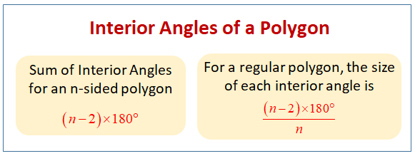 Angles of Polygons (solutions, examples, worksheets, videos)