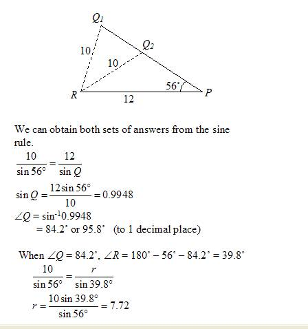 Printables Law Of Sines Worksheet law of sines or sine rule solutions examples videos ambiguous case