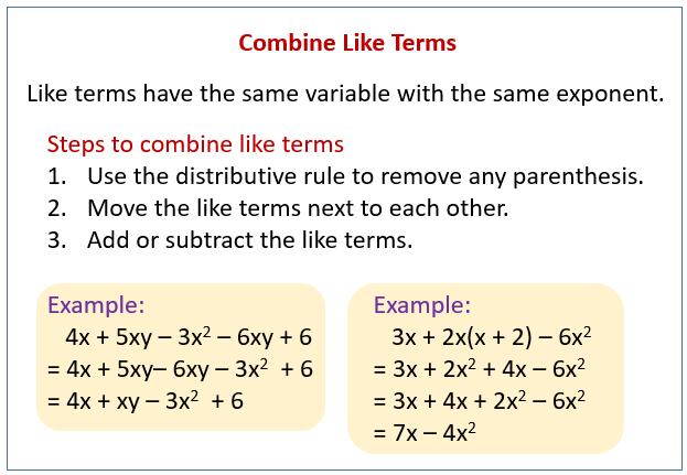 Combine Like Terms