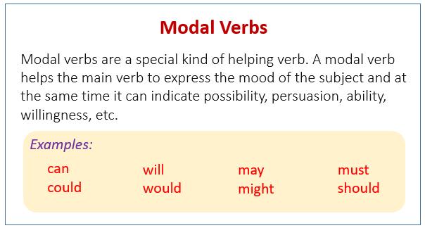 Famoso Modal Verbs (examples, videos) QA43