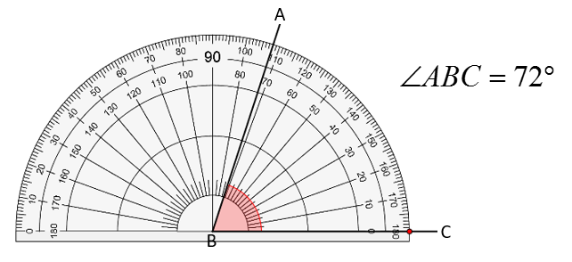 protractor measure angle