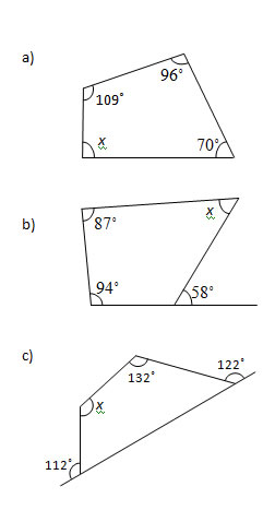 math worksheet : angles in a quadrilateral worksheets and solutions  : Gcse Maths Angles Worksheets