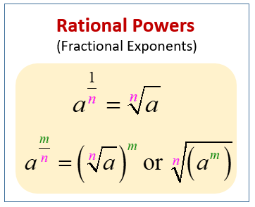 Fractional Powers, Fractional Exponents and Rational ...