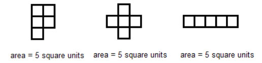 shapes with same area