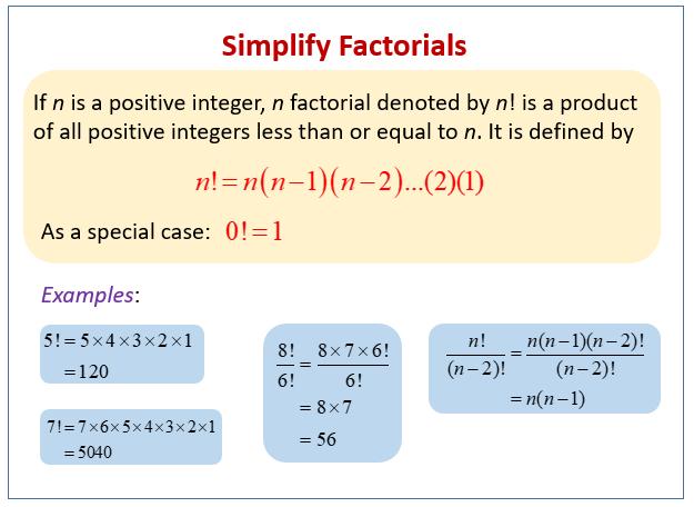 Simplify Factorials