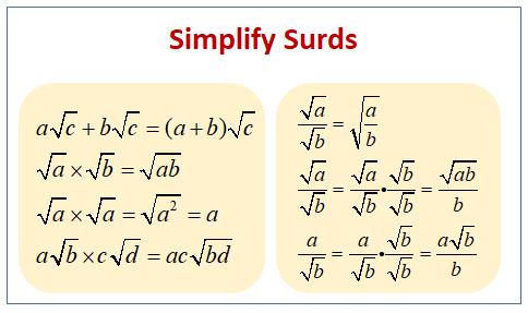 Simplify Surds