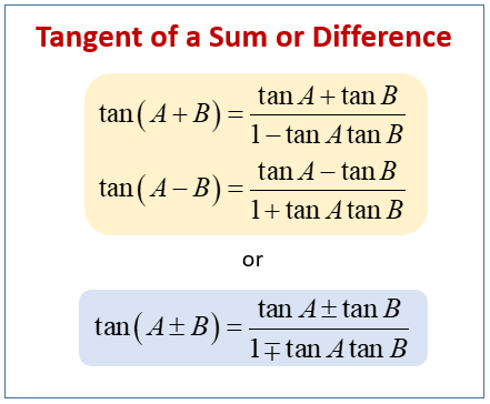 Tangent Sum Difference