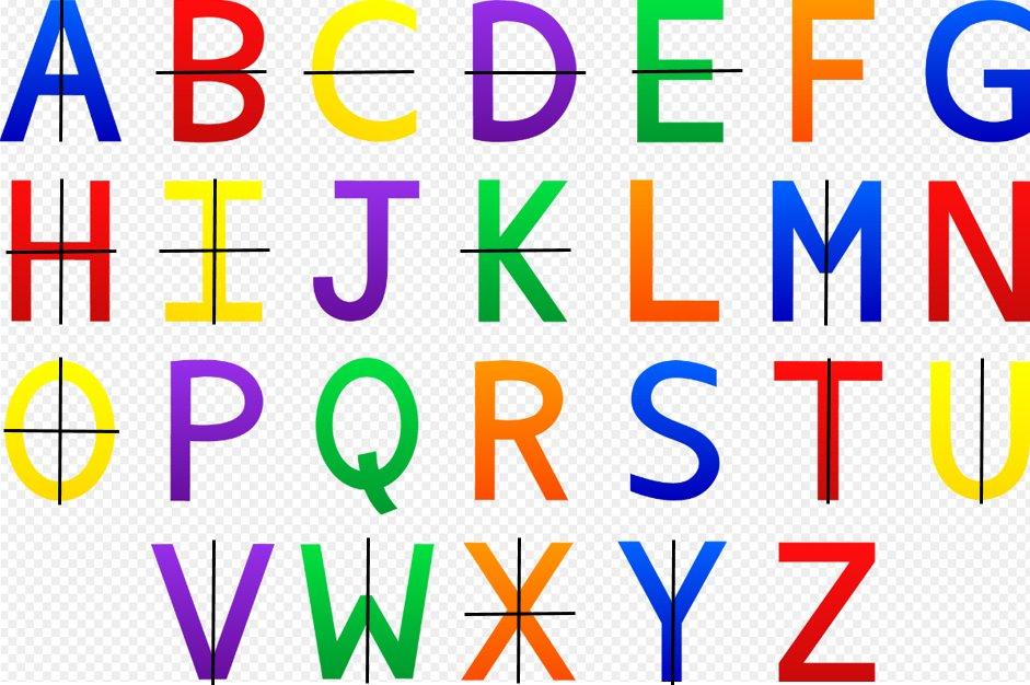 symmetry in alphabets