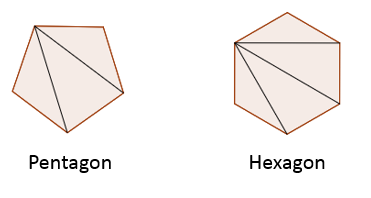 angles in pentagon hexagon