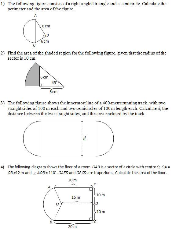 area figures circle 2