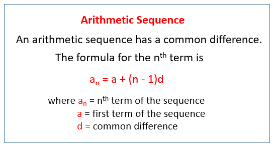 Arithmetic progression examples answers.