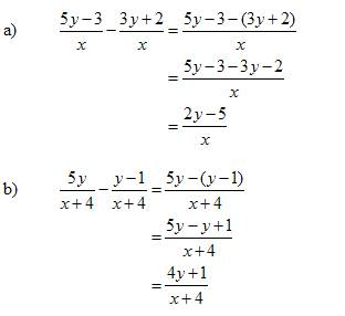 subtract rational expressions