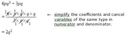 divide algebraic expressions