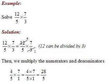 Multiply Fractions Canceling