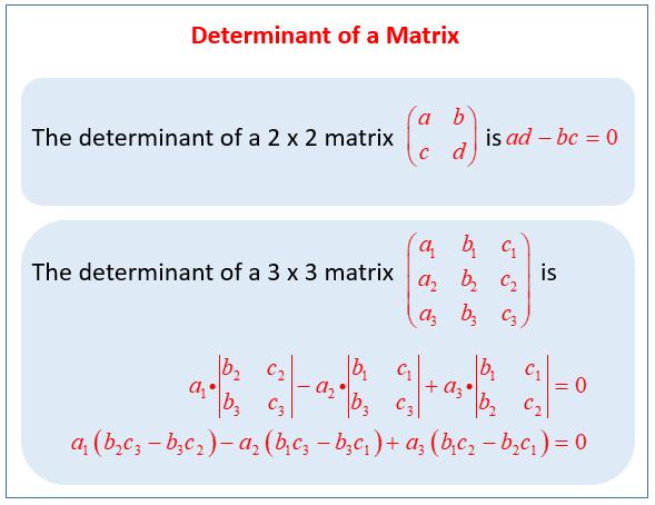 Determinant Matrix