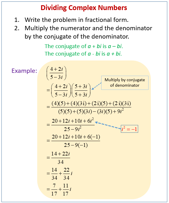 Divide Complex Numbers