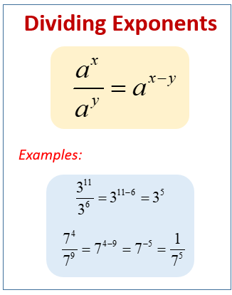 Divide Exponents