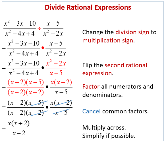 Divide Rational Expressions
