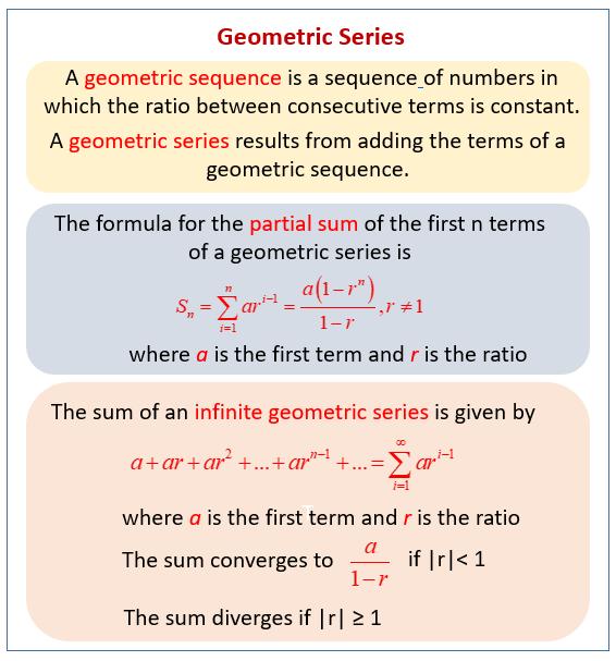 Geometric Series Formula