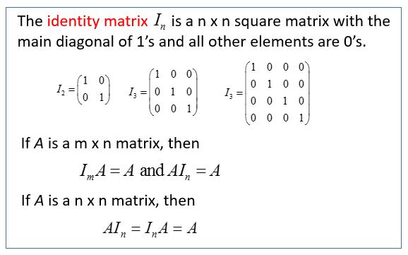 Identity Matrices