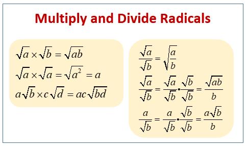 Multiply, Divide Radicals