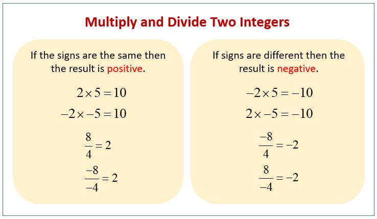 Multiply Divide Integers
